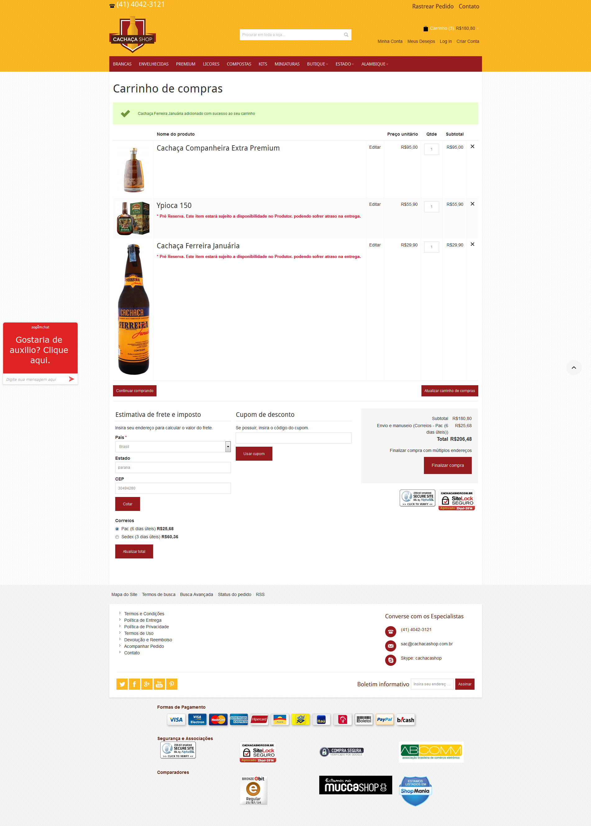 Why the products images is with different sizes in shopping cart?